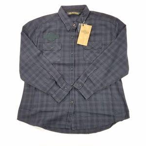 Harley Davidson Flannel Plaid Long Sleeve Shirt